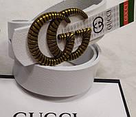 Ремень брендовый женский кожаный Gucci ширина 40 мм. реплика 930290