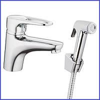 Смеситель для умывальника с гигиеническим душем HB Opus SH