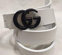 Ремень брендовый женский кожаный Gucci ширина 40 мм. реплика 930294