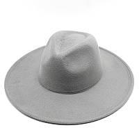 Шляпа Федора унисекс с широкими полями серая