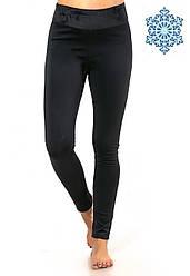 Теплые спортивные лосины (дайвинг на велюре), термолосины женские, женские леггинсы для прогулок Батал