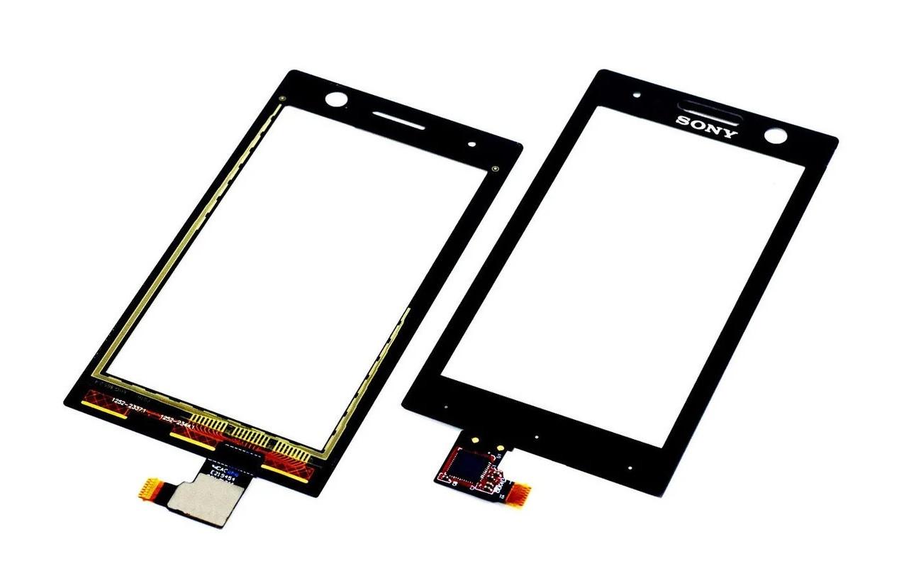 Cенсор (Tачскрин) для Sony ST25i   Xperia U (Черный) Оригинал Китай