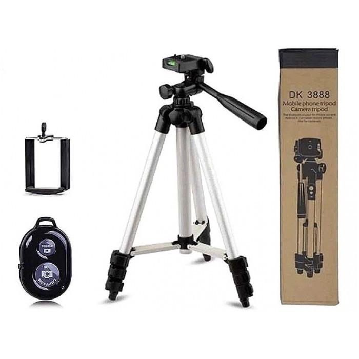 Штатив трипод з пультом ДУ для камери і телефону Bluetooth DK-3888 Tripod в чохлі