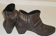 Ботинки кожаные на небольшом устойчивом каблуке Rieker