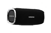 Беспроводная портативная колонка Hopestar A6 с переносным ремнем Bluetooth влагозащищенная черная.