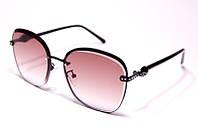 Женские солнцезащитные очки бабочки Bvlgari 20212 C8 реплика Коричневые с градиентом