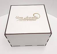 Коробка для подарков белая ДВП 35х35х10см