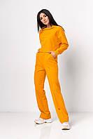 ✔️ Повседневный костюм женский трикотажный свободные штаны и свитшот 42-48 размеры разные расцветки