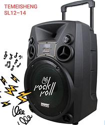 Портативная Аккумуляторная Акустика с микрофонами SL 12-14   караоке спикер с видеомикрофоном-суфлером