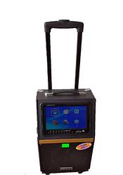 Портативная колонка c экраном A 8-13 с радиомикрофоном (USB/Bluetooth/Video)