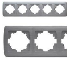 Рамка 5-я горизонтальная серебро ViKO Carmen Decora 93190405