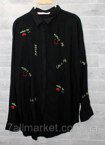 """Блузка женская, с вышивкой, размеры S-L (3цв) """"WOMEN"""" недорого от прямого поставщика"""
