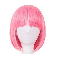 Перука Каре рожевий колір
