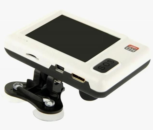 Автомобильный видеорегистратор DVR HD128 | авторегистратор белый