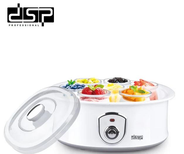 Йогуртница DSP KA4010 бытовая домашняя электрическая 1,5 л 7 стеклянных банок