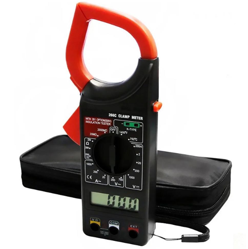 Мультиметр цифровой тестер токовые клещи вольтметр DT 266 С