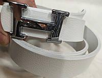 Ремень брендовый женский кожаный Hermes ширина 30 мм. реплика, 930380