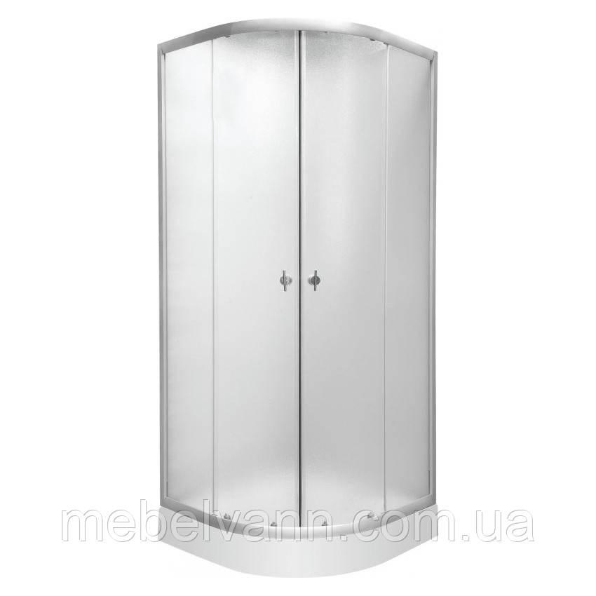 """TULIP душ. кабина 90*90*194 см, с мелким поддоном, стекло 4мм """"FABRIС"""", цвет сатин"""