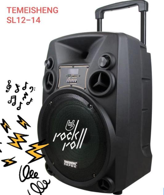 Портативная Аккумуляторная Акустика с микрофонами SL 12-14 | караоке спикер с видеомикрофоном-суфлером