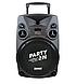 Портативная Аккумуляторная Акустика с микрофонами SL 12-14 | караоке спикер с видеомикрофоном-суфлером, фото 4