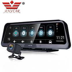 Автомобільний відеореєстратор E98 на Android   бортовий комп'ютер   дзеркало реєстратор