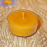 Подарочный набор круглых восковых чайных свечей 18г (12шт.) в коробке Бежевый Крафт, фото 5