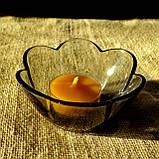 Подарочный набор круглых восковых чайных свечей 18г (12шт.) в коробке Бежевый Крафт, фото 9