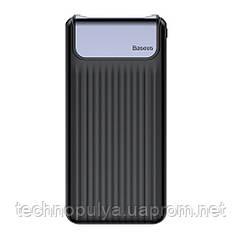 Внешний аккумулятор Power bank Baseus Thin Digital Power Bank 10000mAh с дисплеем Quick Charge 3.0 Черный