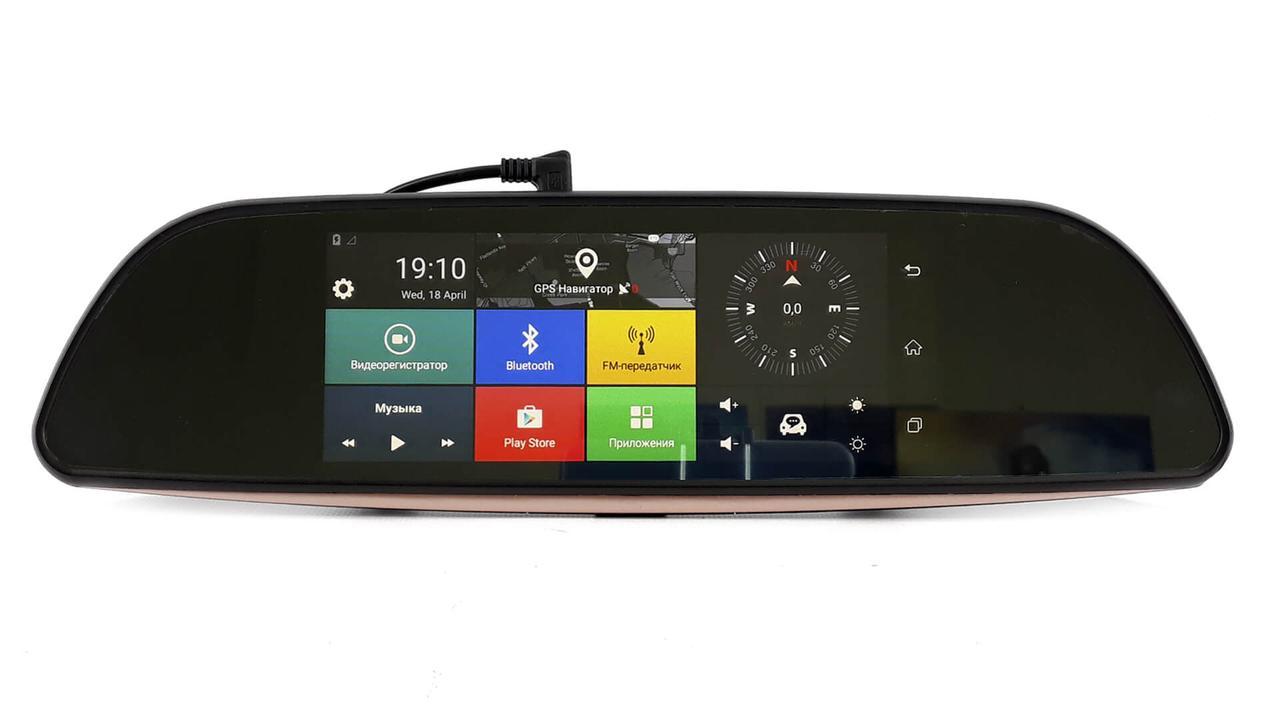 Автомобильный видеорегистратор H3 на Android   зеркало с камерой заднего вида черный