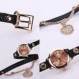 Часы-браслет длинные, наматывающиеся на руку Черные 089-6, фото 2