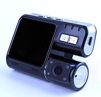Автомобильный видеорегистратор Р 1000   авторегистратор с двумя камерами черный, фото 1