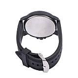Чоловічі годинники Об'ємні цифри силіконовий ремінець білі mw17-2, фото 2