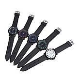 Чоловічі годинники Об'ємні цифри силіконовий ремінець білі mw17-2, фото 3