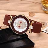Жіночі годинники Сова з силіконовим ремінцем Шоколад, фото 2