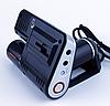 Автомобильный видеорегистратор Р 1000 | авторегистратор с двумя камерами черный, фото 5