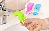 Силіконова насадка подовжувач на кран для дітей, фото 5