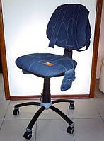 Кресло детское компьютерное ДЖИНС с рюкзачком, фото 1