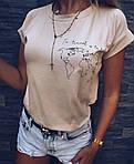 Крута жіноча футболка «Карта» (Батал), фото 3