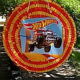 Піньята Hot Wheels хотвилс hotwheels машина машинки тачки паперова для свята, фото 7