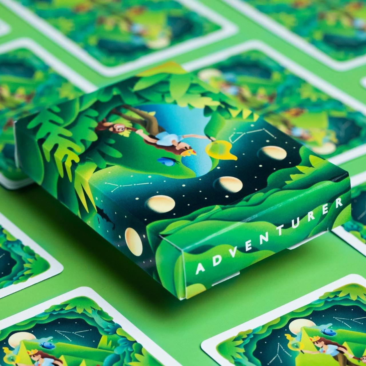 Карты игральные   Adventure Playing Cards by Riffle Shuffle