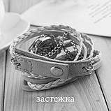 Годинник-браслет довгі, наматывающиеся на руку Білі 146-3, фото 2