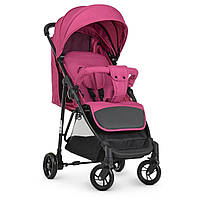 Коляска детская Bambi Розовая на полиуретановых колесах 4249