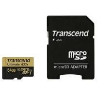 Карта памяти transcend microsdhc 64 Гб uhs-i u3 ultimate c адаптером (ts64gusdu3)