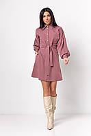 ✔️ Стильное платье рубашечного кроя с объемными рукавами 42-50 размера разные расцветки