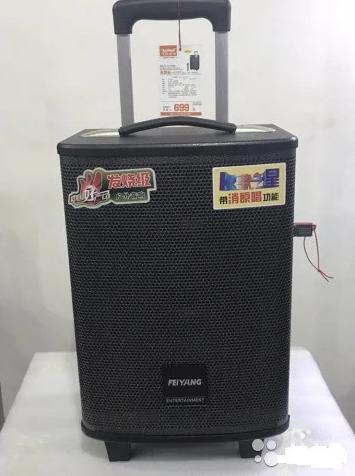 Портативна колонка Temeisheng QX - 0862 з радіомікрофоном / 50W (USB/Bluetooth)