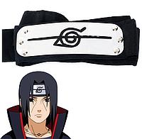 Повязка Наруто Naruto Акацуки - Итачи Учиха из Деревни Скрытой В Листве, cosplay Naruto