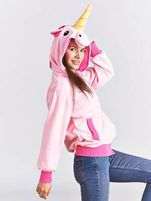 Кигуруми - толстовка - пайта - худи- Розовый единорог- Одежда для дома