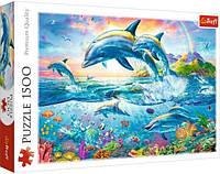 Пазл 1500 Trefl Сім'я дельфінів (Dolphin Family)