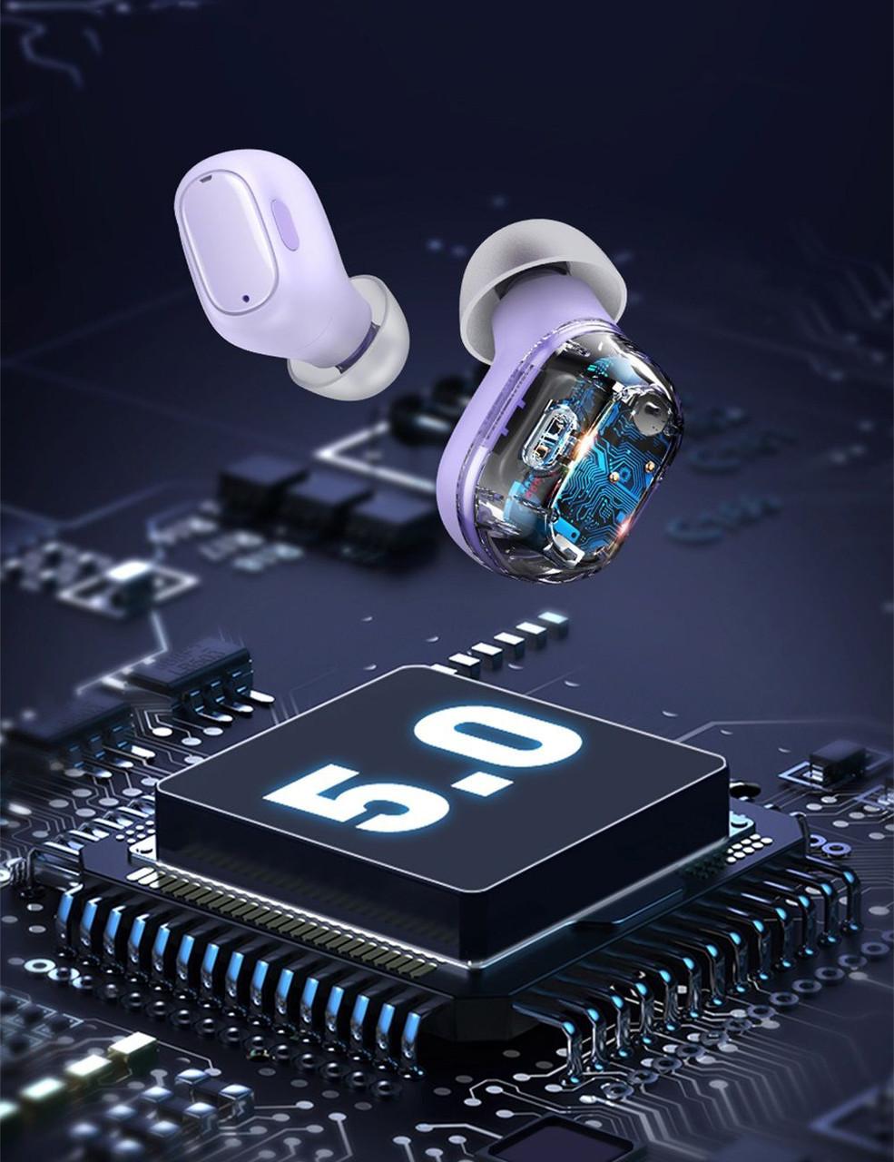 Навушники безпровідні Baseus Encok WM01 True Wireless Earphones Ліловий (NGWM01-05), фото 6