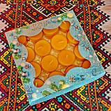 Подарочный набор круглых чайных восковых свечей 15г (16шт.) в коробке Синий Снег, фото 4